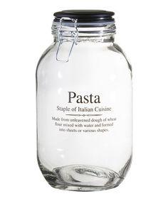 Look at this #zulilyfind! 'Pasta' 105-Oz. Storage Jar #zulilyfinds