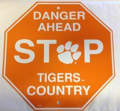 Clemson Tigers Stop Sign Room Bar Decor NEW NCAA  Free Shipping #Clemson