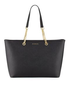 6b8484d0e1 Jet+Set+Travel+Medium+Chain+Leather+Tote+Bag +by+MICHAEL+Michael+Kors+at+Neiman+Marcus.