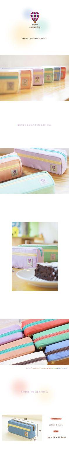 iswas  Contrast-Zip Canvas Pencil Case