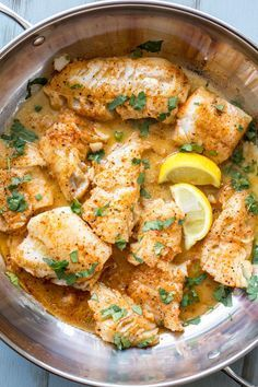 Buttered Cod in Skillet. Ready in under 15 minutes and soo good! - Six Sisters' Stuff - - Buttered Cod in Skillet. Ready in under 15 minutes and soo good! Buttered Cod in Skillet. Ready in under 15 minutes and soo good! Seafood Recipes, Cooking Recipes, Healthy Recipes, Skillet Recipes, Dinner Recipes, Baked Cod Fish Recipes, Baked Fish, Simple Fish Recipes, Paleo Fish Recipes
