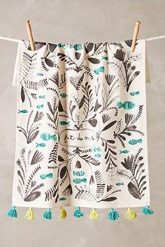 Fruits De Mer Tea Towel - anthropologie.com