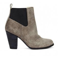 grey and black- Chelsea booties - Giuliana