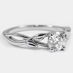 Platinum Budding Willow Ring