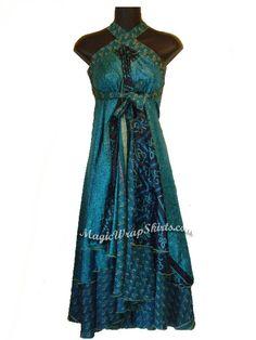 Magic Wrap Skirt, wrap magic, enwrapture vintage silk wrap skirt, Indian sari wrap, magic skirt
