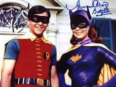 Burt Ward as 'Robin' & Yvonne Craig as 'Batgirl' in the final season of Batman ABC) Batman Robin, Batman Y Superman, Batgirl And Robin, Batman 1966, Batman Comics, Yvonne Craig, Batman Tv Show, Batman Tv Series, Elvis Presley