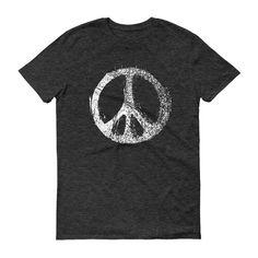 Grunge PEACE SIGN Short sleeve unisex t-shirt