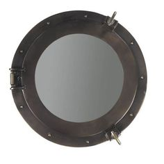 Authentic Models Lounge Porthole Wall Mirror - 20 diam. in.