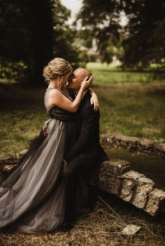 This couple's Mount Juliet Estate wedding features an ethereal black and blush tulle wedding dress that truly stuns in the acres of Irish meadow and forest.