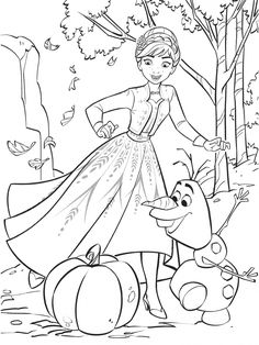 Frozen 2 free coloring pages with Anna Frozen Coloring Sheets, Princess Coloring Sheets, Frozen Coloring Pages, Disney Princess Coloring Pages, Disney Princess Colors, Cute Coloring Pages, Disney Colors, Adult Coloring Pages, Coloring Pages For Kids