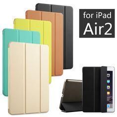 De alta calidad de la pu cuero de la tableta cubierta elegante del caso ultra delgado de diseño para apple ipad air 2 ipad6 air2 retina