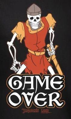 Dragon's Lair Game Over T-Shirt - NerdKungFu