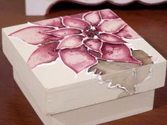 Cardboard Crafts, Paper Crafts, Decor Crafts, Diy And Crafts, Cigar Box Crafts, Decoupage Box, Do It Yourself Crafts, Diy Projects To Try, Christmas Crafts