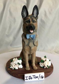 Dog Design, Design Art, Design Ideas, Dog Cake Topper Wedding, Wedding Cakes, Dog Cafe, Dog Sculpture, Food Humor, Cake Designs