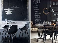 black board walls