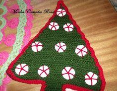 Minha Casinha Rosa: Árvore de Natal em crochê