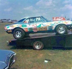 Toy Hauler Trailers, 70s Muscle Cars, Backyard Buildings, Drag Cars, Station Wagon, The Good Old Days, Drag Racing, Cars And Motorcycles, Chevrolet