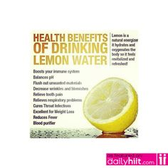 Stay refreshed with lemon water!