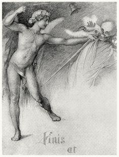 Finis et.  Edwin Howland Blashfield, from Masques of Cupid, by Evangeline Wilbour Blashfield, New York, 1901.