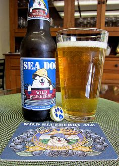 Sea Dog Blueberry Wheat Ale. Very sweet beer, not nearly as good as Sweetwater Blue.