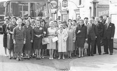Derbyshire and Blackburn Mill workers day out. Our grandma - Esther Downes is back row furthest left.