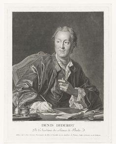 François Anne David | Denis Diderot, François Anne David, Louis Michel van Loo, Le Bas (uitgever), 1751 - 1824 |