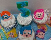 12 Edible Cupcake or Cake decoration Toppers for Birthdays or any celebrations.  Made  from Vanilla Fondant