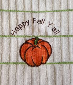 Embroidered Happy Fall Ya'll design kitchen by LuvHooURDesigns