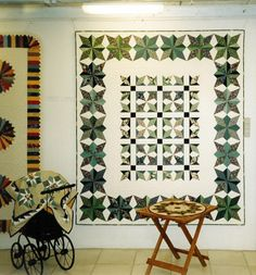 Green quilt made by Eva Johansen DK