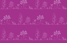 Woodland doodle by coggon_(roz_robinson) on Spoonflower