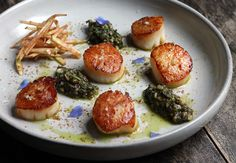 Scallops with Herbs and Wild Apple