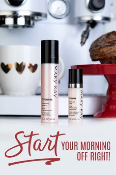 Starting our day with strong coffee and powerful skin care!