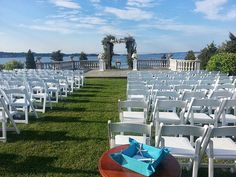 #CastleHillDreamWedding Gorgeous arbor over looking the bay at Castle Hill, Newport RI @Rebecca Esquite Events