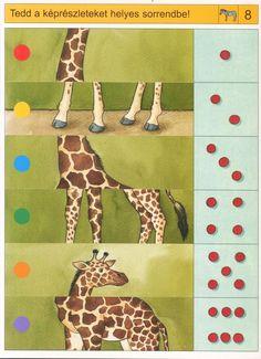 Logische giraf puzzel, free printable