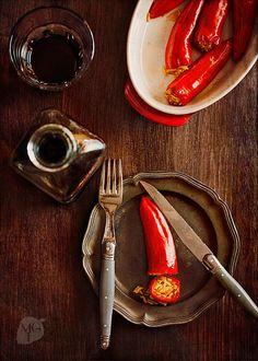 Guindillas frescas rellenas de arroz | Recetas con fotos paso a paso El invitado de invierno