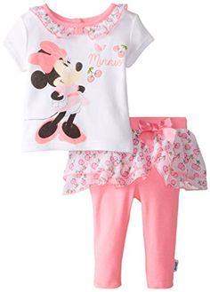 Disney Baby-Girls Newborn Minnie Mouse 2 Piece Skegging Set