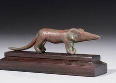 AN EGYPTIAN BRONZE SHREW LATE PERIOD, CIRCA 664-332 B.C. | Christie's
