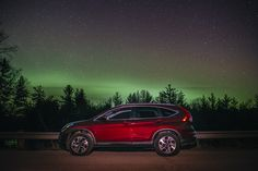 Take your Honda CR-V for a midnight adventure through the woods. There's always a spectacular sight to be seen.