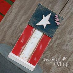 Whimsical Wooden flag