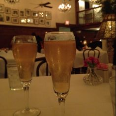 Famous French 75 cocktail at Arnauds