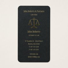 Attorney at Law | Elegant Gold Business Card Custom Legal Branding Office Products and Gifts #legal #lawyer #solicitor #law