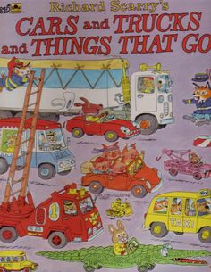 Richard Scarry books - Huckle Cat, Lowly Worm and Mr. Frumble!