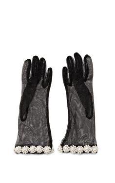 Pearl-Embellished Tulle Gloves by Simone Rocha - Moda Operandi