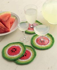 Wouldn't these watermelon coasters be perfect for summer!
