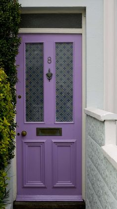 Lavender  door in Brighton, England.   #thehouseofvangogh is going to share this.