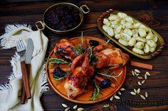 Pieczone przepiórki z konfiturą z czerwonej cebuli