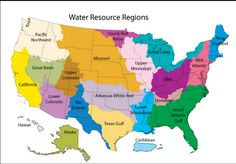 Water resource regions, United States.More watershed maps >>