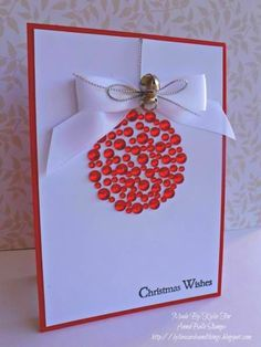 Christmas DIY: Fancy Gems DIY Chris Fancy Gems DIY Christmas Cards Ideas #christmasdiy #christmas #diy