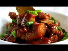 Manila Spoon: Ultimate Pork Adobo (Chinese Style) - sweet-salty and truly delicious! You can use chicken instead of the pork. Roast Chicken Recipes, Pork Recipes, Asian Recipes, Gourmet Recipes, Cooking Recipes, Ethnic Recipes, Asian Foods, Fish Recipes, Thyme Recipes