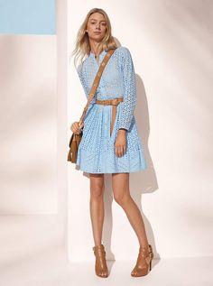 2d24aef04fa3 Michael Michael Kors Eyelet Cotton Shirtdress Cotton Shirt Dress